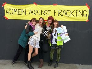 women against fracking